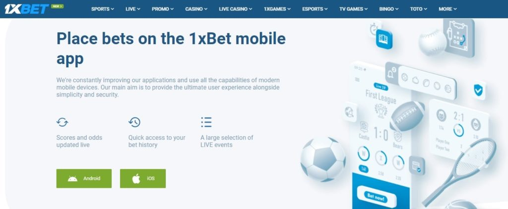 Important features of 1Xbet